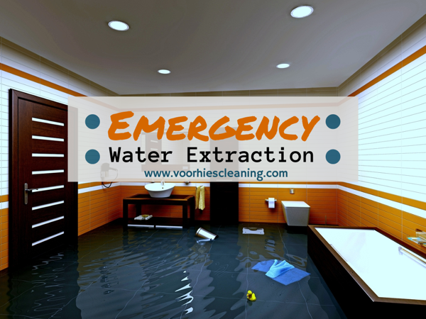 Emergency Water Extraction in Olathe, Overland Park, Leawood, Kansas City with Voorhies Carpet Cleaning